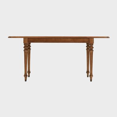 夏洛克公寓 1.25-1.7米伸缩餐桌/书桌(橡子棕)