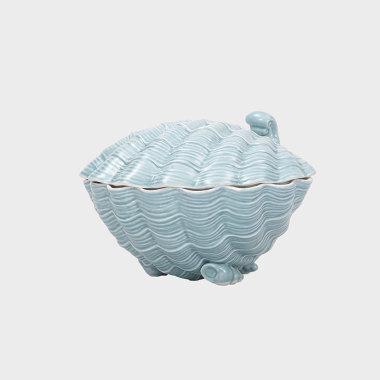 海洋趣味-藍色貝殼盒擺件