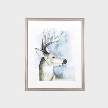 蓝铃鹿装饰画-B
