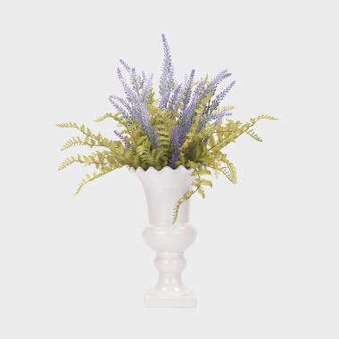 普罗旺斯的记忆-陶瓷花器薰衣草盆花