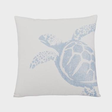 深海徜徉-海藍色海龜裝飾枕