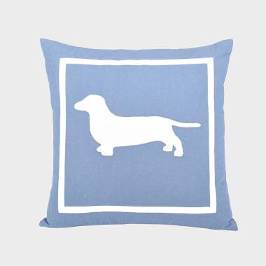 单身汪-深蓝色方枕
