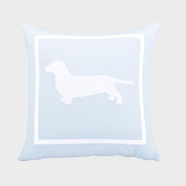 单身汪-浅蓝色方枕