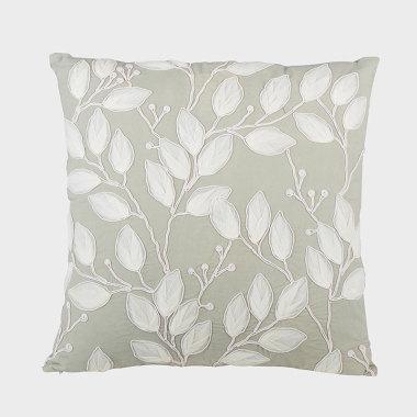 葉之聲-綠色裝飾方枕