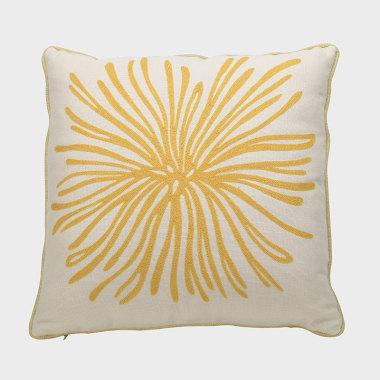 菊音-黃色裝飾枕