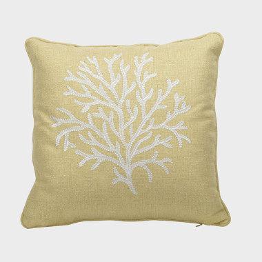 珊叢-黃色裝飾枕