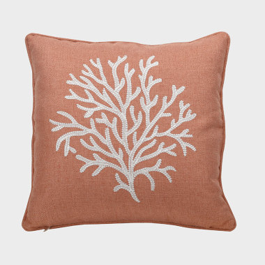 珊叢-橘色裝飾枕