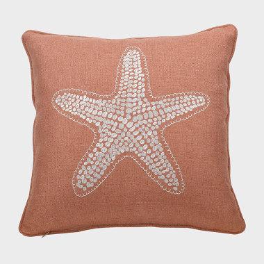 星晴-橘色裝飾枕