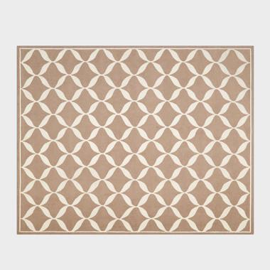 菱蔓-褐色手工枪刺地毯