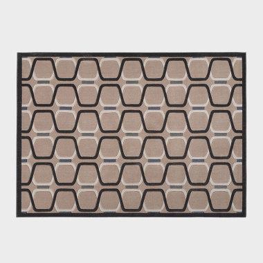 迷棕-褐色机织地毯