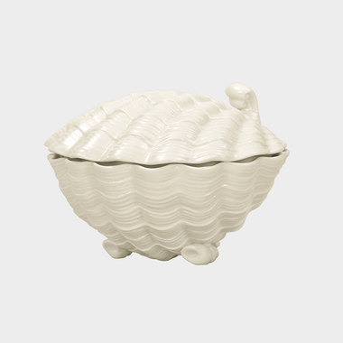 海洋趣味-白色贝壳盒摆件