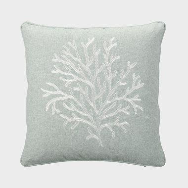 珊叢-藍色裝飾枕