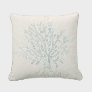 珊叢-淺灰色裝飾枕