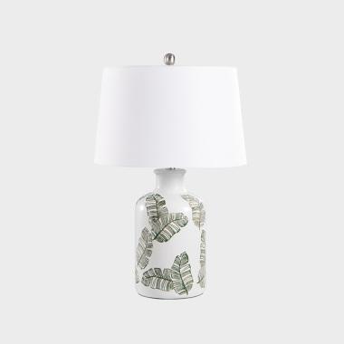 夏叶 陶瓷台灯