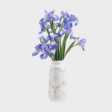 翩仙-蓝色鸢尾陶瓷盆花