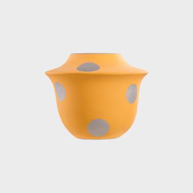 糖果派黄色波点花瓶