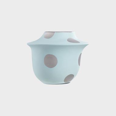 糖果派蓝色波点花瓶