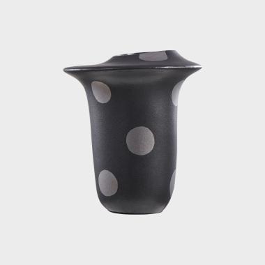 糖果派黑色波点花瓶