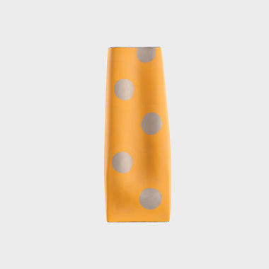 糖果派黄色波点直筒花瓶
