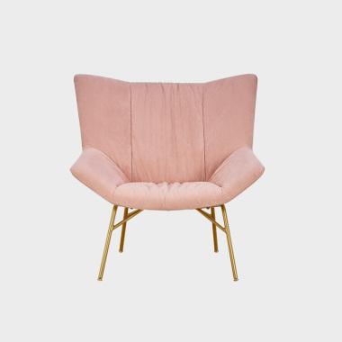 乐窝 沙发椅 蜜桃粉