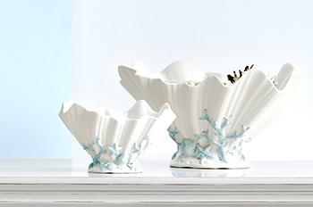 珊瑚贝壳碗摆件